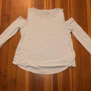 hollister cold shoulder top, light worn